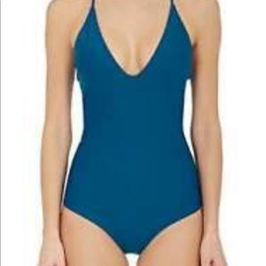 NWT Mikoh Las Palmas one piece large swimsuit blue